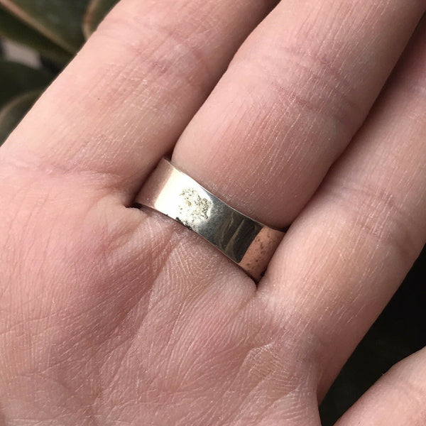 Navajo Sterling Silver Tribal Dancer Ring Size 5.5