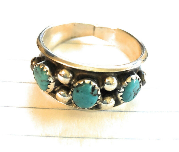 Navajo Turquoise and Sterling Stacker Rings