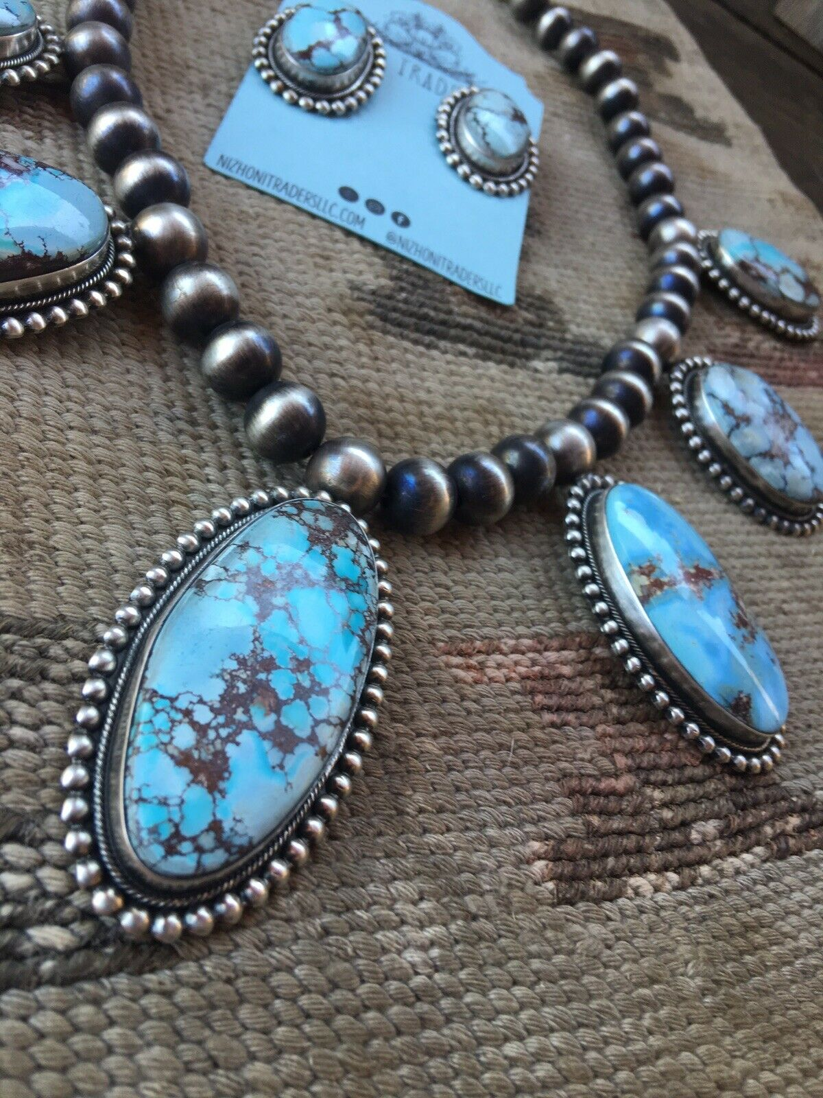 Golden Hills Turquoise Necklace Set By Bea Tom