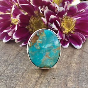 Navajo Sterling Silver Royston Turquoise Ring Sz 5