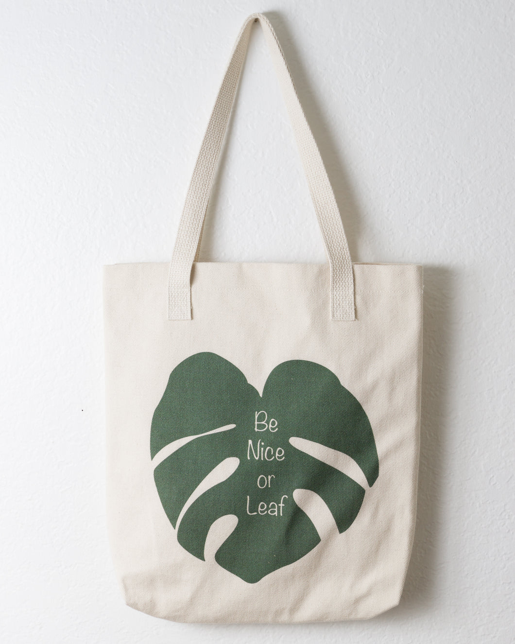 Monstera Cotton Tote Be Nice Or Leaf
