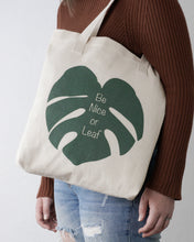 Be Nice Or Leaf Tote Bag Designed By Kira Gulley