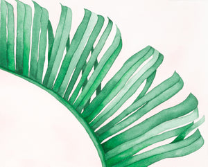 Pink Banana Leaf - Watercolor Print