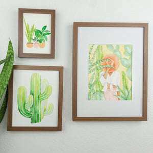 Desert Plant Lady - Watercolor Print