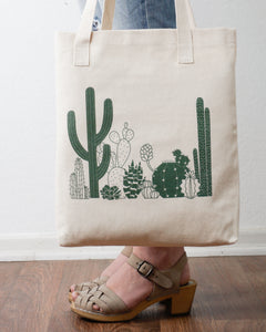 Cactus Tote Bag Designed By Kira Gulley
