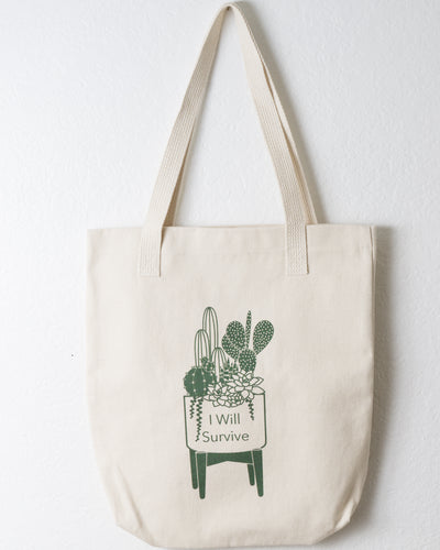 Potted Cactus and Succulent Tote Bag