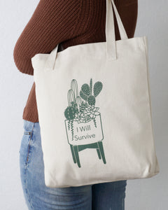 I will survive tote bag designed By Kira Gulley