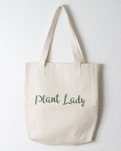 Plant Lady Cotton Tote Bag