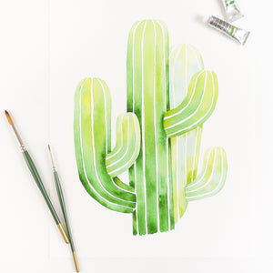 Saguaro Cactus Watercolor Print By Kira Gulley