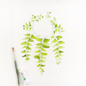 Western Maidenhair Fern Watercolor Print By Kira Gulley