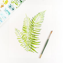 Wester Narrow Leaf Sword Fern Watercolor Print By Kira Gulley
