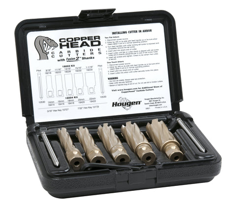 Hougen 18002 Copperhead Carbide Annular Cutter Kit - Fractional
