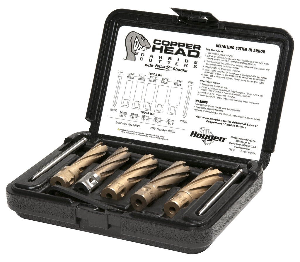 Hougen 18004 Copperhead Carbide Annular Cutter Kit - Metric