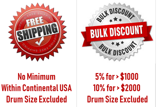 OUR 5 GALLON & DRUM SIZES ARE PRICED AT BULK  RATES
