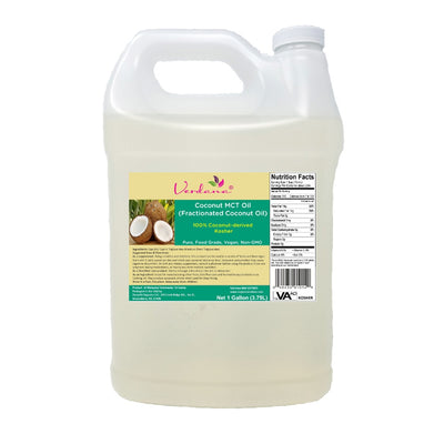 Verdana Coconut MCT Oil - Regular - Fractionated Coconut Oil - Genuine, Authentic 100% Coconut derived - Kosher Food Grade