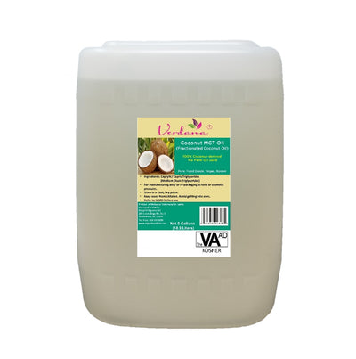 Verdana Coconut MCT Oil - Regular - Fractionated Coconut Oil - Genuine, Authentic 100% Coconut derived