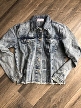 Livin' on the Edge Distressed Jean Jacket