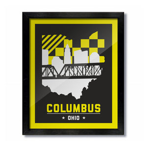Columbus, Ohio Skyline Print: Soccer