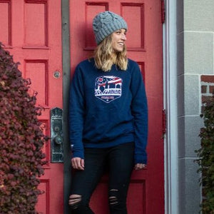 Columbus Ohio Flag Shield Fleece Raglan Sweatshirt
