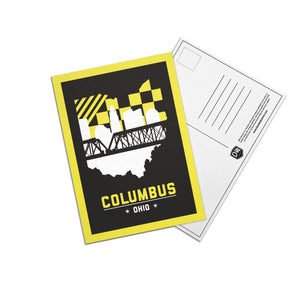 Columbus, Ohio Skyline Yellow and Black Post Cards