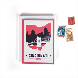 Cincinnati, Ohio Skyline Greeting Cards