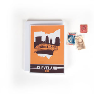 Cleveland, Ohio Skyline Greeting Cards