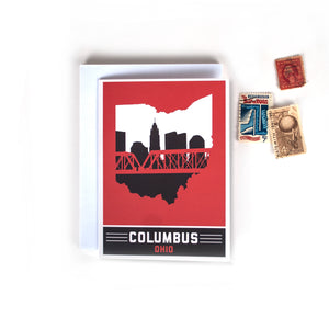 Columbus, Ohio Skyline Greeting Cards