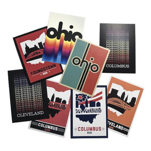 Ohio Retro Rainbow Post Cards