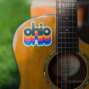 Rainbow Ohio Vintage Stickers