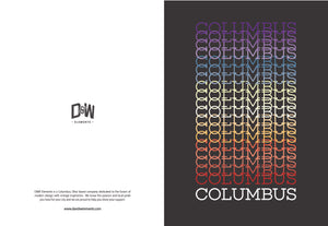 Columbus, Pride Gradient Greeting Cards