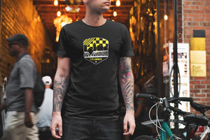 PRESALE:: Columbus Ohio Yellow/Black Skyline Shield T-Shirt