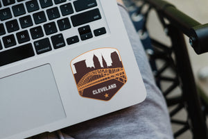 Cleveland Ohio Skyline Vintage Stickers