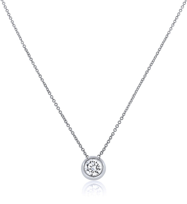 Silver Halo Chandi Diamond Pendant Necklace by Bobby Schandra