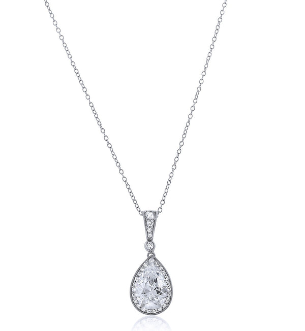 Oval Chandi Diamond Pendant Necklace by Bobby Schandra