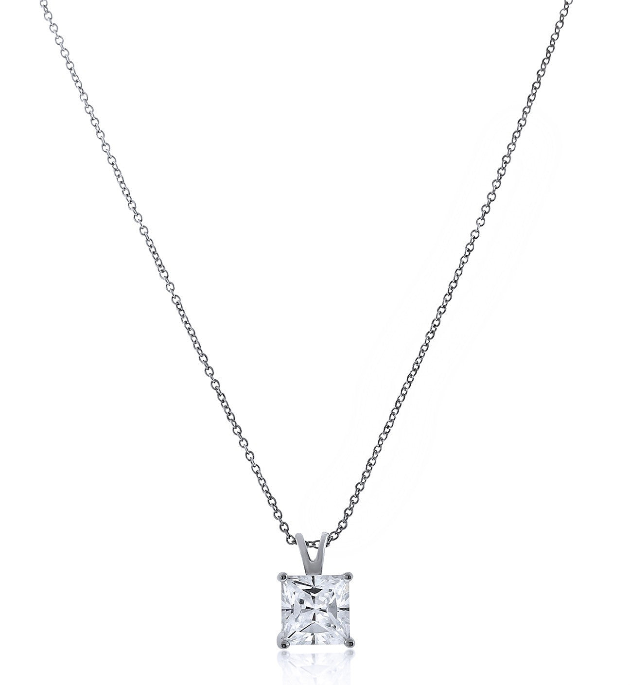 rose in princess bar cut necklace product gold diamond reuven set