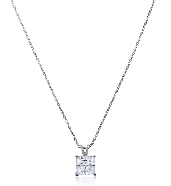 Chandi Diamond Princess Cut Pendant Necklace by Bobby Schandra