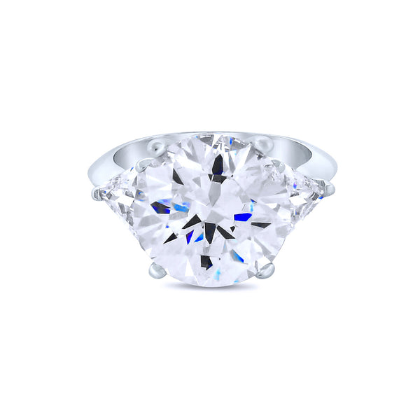 4K Chandi Diamond (CZ) Silver Ring by Bobby Schandra