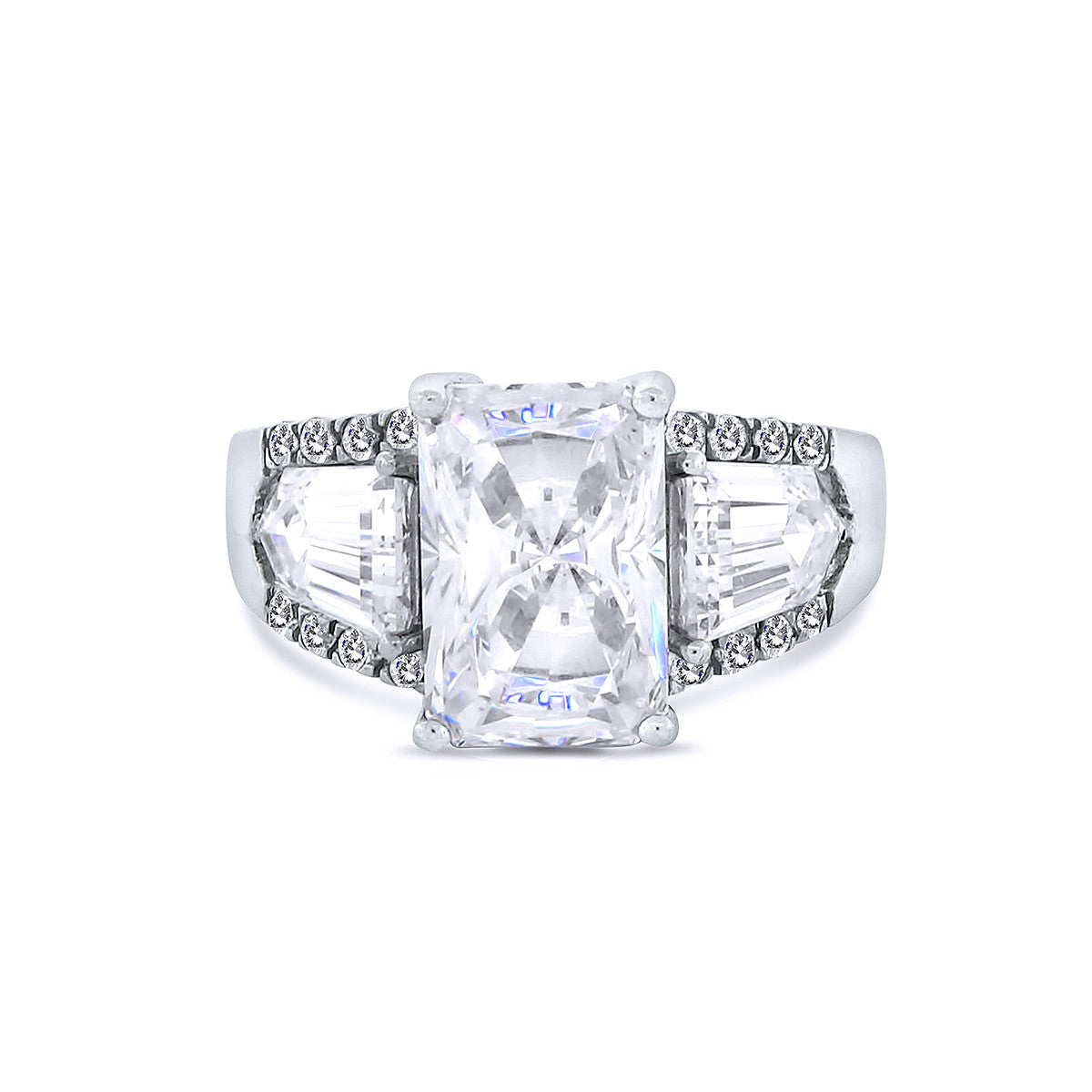 Silver Cubic Zirconia Rings by Bobby Schandra tagged \