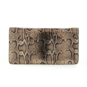 Snake Skin Bronze Fold-over Clutch by Bobby Schandra