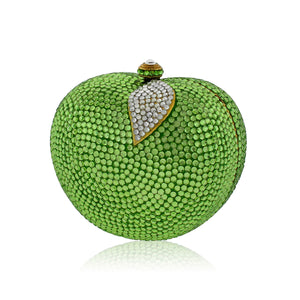 Green Apple Swarovski Crystal Evening Clutch