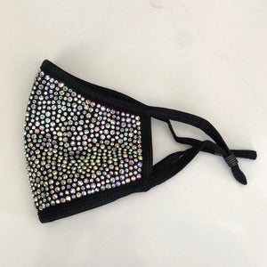 Black & AB Blinged-Out Mask