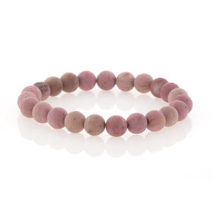 Rose Quartz Beaded Bracelet by Bobby Schandra