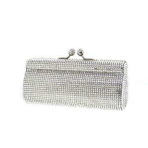Silver Evening Clutch w/ Swarovski Crystals by Bobby Schandra