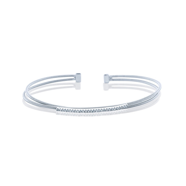 Stackable Chandi Diamond Sterling Silver Cuff by Bobby Schandra