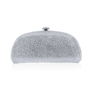 Silver Ice Evening Clutch w/Swarovski Crystals