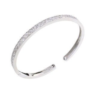 Chandi Diamond Arrow Cuff CZ Crystal Bangle Bracelet by Bobby Schandra