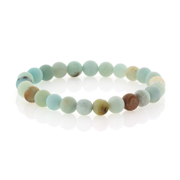 Chandi Diamond Amazonite Beaded Bracelet by Bobby Schandra