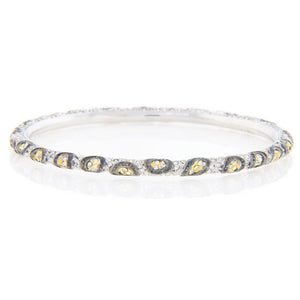 Chandi Diamond Animal Print Two Tone Swarovski Crystal Bracelet by Bobby Schandra