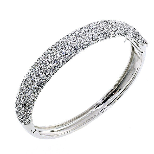 Chandi Diamond Bling CZ Crystal Bangle Bracelet by Bobby Schandra