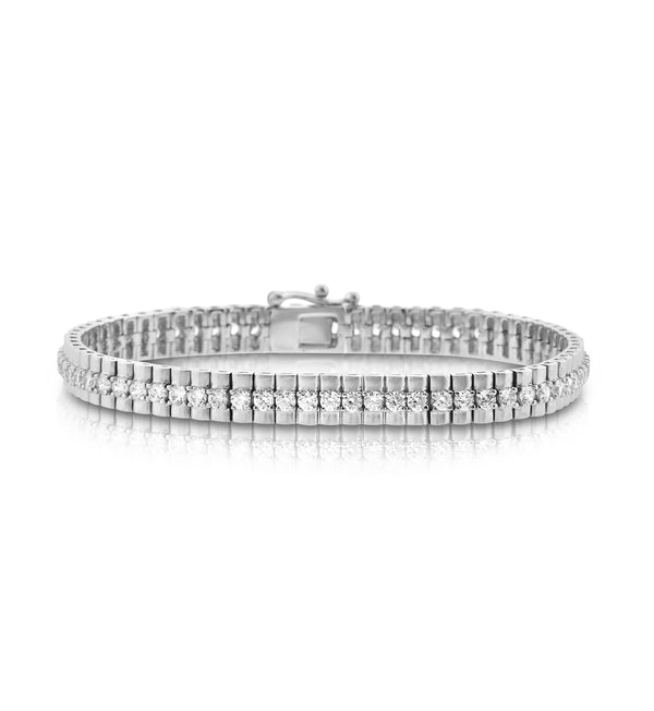 Beautiful Round Stone CZ Tennis Bracelet